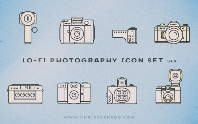 lo-fi photography icon set